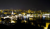 Town of Split at night — Stock Photo
