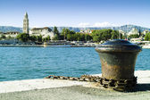 Split town in Croatia view from the sea — Stock Photo