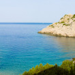 Stock Photo: Zakamicbeach and Kamik cliff in Vis island, Croatia