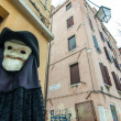 Stok fotoğraf: Figure with plague mask and costume in Venice