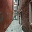 Stok fotoğraf: Small colourful venetistreet in popular neighbourhood