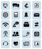 Komunikace ikony — Stock vektor