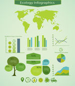 Energy&Ecology info graphics — Vector de stock