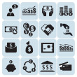 Money, finance, icons — Stock Vector
