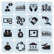 Stock Vector: Money, finance, icons
