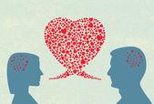 Love dialogue — Stock Vector