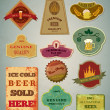 Stock Vector: Vintage beer labels