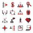 Stock Vector: Set of 16 humresources icons.