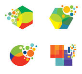 Collection of colorful logo design elements — Stock Vector