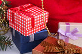 Christmas gift boxes — Foto de Stock