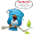 Twiter Blue Bird Laughing — Stockfoto