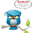 Tweeter Blue Bird Strict — Stock Photo