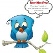 Tweeter Blue Bird Emotional — Stock Photo