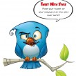 Royalty-Free Stock Photo: Tweeter Blue Bird Smarty