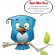 Tweeter Blue Bird Happy — Stock Photo #13737644