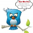 Tweeter Blue Bird Vicious — Stock Photo