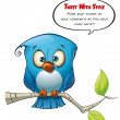 Tweeter Blue Bird Open — Stock Photo
