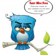 Tweeter Blue Bird Sober - Stock Photo