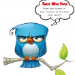 Tweeter Blue Bird Flat — Stock Photo