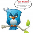 Tweeter Blue Bird sleepy — 图库照片