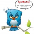 Tweeter Blue Bird sleepy — Stock Photo