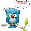 Stock Photo: Tweeter Blue Bird Wrathful