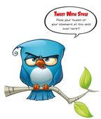 Tweeter Blue Bird Strict — Stock Photo
