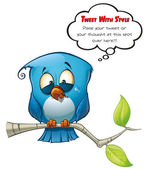 Tweeter Blue Bird Emotional — Stock Photo
