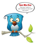 Tweeter Blue Bird Happy — Stock Photo
