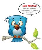 Tweeter Blue Bird Happy — Stock Photo