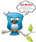 Tweeter Blue Bird Vicious — Stock Photo