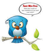 Tweeter Blue Bird Open — Stock Photo