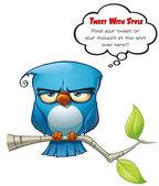 Tweeter Blue Bird Flat — Stock Photo