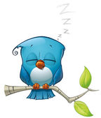 Tweeter Blue Bird Sleeping — Stock Photo