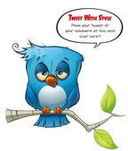 Tweeter Blue Bird sleepy — Stock Photo