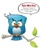 Tweeter Blue Bird Wrathful — Stock Photo