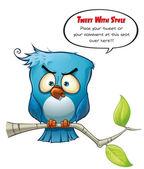 Tweeter Blue Bird Wrathful — Stock Photo