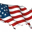 US Flag-Map Inner Shadow - Stock Photo