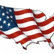 US Flag-Map Flat. Clipping Path — Stock Photo #13798993