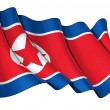 North Korean Flag Grange — Stock Photo
