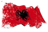 Albanian Flag Grunge — Stock Photo