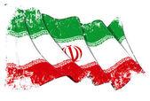 Iranischen flagge grunge — Stockfoto