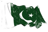 巴基斯坦国旗 grunge — 图库照片
