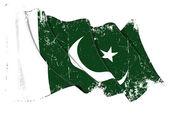 Pakistan bayrağı grunge — Stok fotoğraf