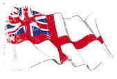British Naval Ensign (Flag) Grunge — Stock Photo