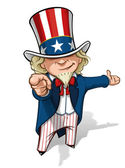 Uncle Sam 'I Want You' Presenting — Stock Photo