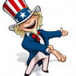 Stock Photo: Uncle Sam Presenting