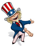 Uncle Sam Presenting — Stock Photo