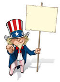 """Uncle Sam """"I Want You"""" Placard — Stock Photo"""
