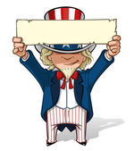 Uncle Sam Holding Up a Sight — Stock Photo